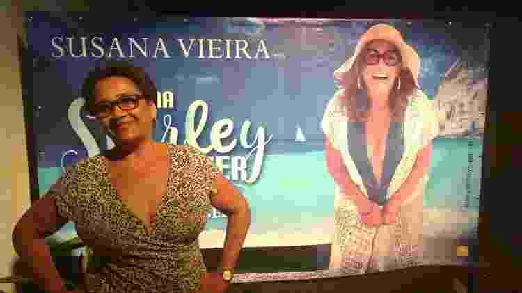 """Maria das Graças Ribeiro prestigia peça """"Uma Shirley Qualquer"""" com Susana Vieira em Bangu - Giselle de Almeida/UOL - Giselle de Almeida/UOL"""