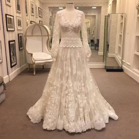 O vestido do casamento religioso de Marina Ruy Barbosa - Reprodução/Instagram