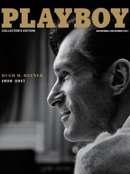 """Capa da """"Playboy"""" homenageia Hugh Hefner, morto em setembro de 2017 - Divulgação"""