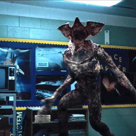 """O Demogorgon em cena da primeira temporada de """"Stranger Things"""" - Reprodução"""