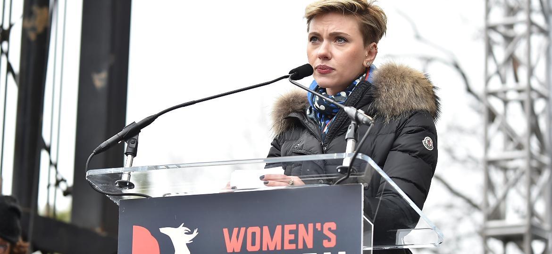 Scarlett Johansson na Marcha das Mulheres de Washington - Getty Images