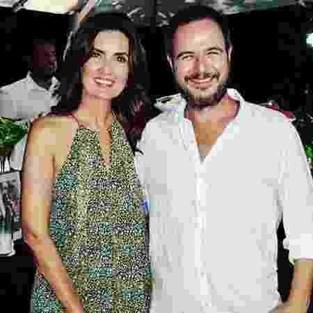 Fátima Bernardes e o diretor Maurício Arruda - Reprodução/Instagram