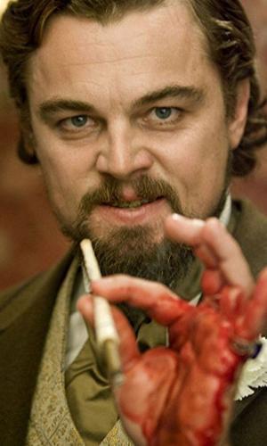 """Leonardo DiCaprio em cena de """"Django Livre"""" (2012)"""