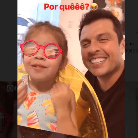 Ceará se diverte coma filha, Valentina - Reprodução/Instagram