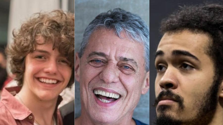 Chico Buarque de Hollanda e seus dois herdeiros: Proner, o enteado, e Brown, o neto - Reprodução/Divulgação/Montagem UOL