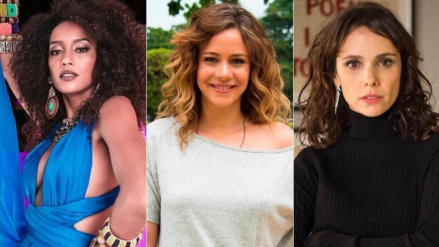 Taís Araújo, Leandra Leal e Débora Falabella - Montagem/UOL