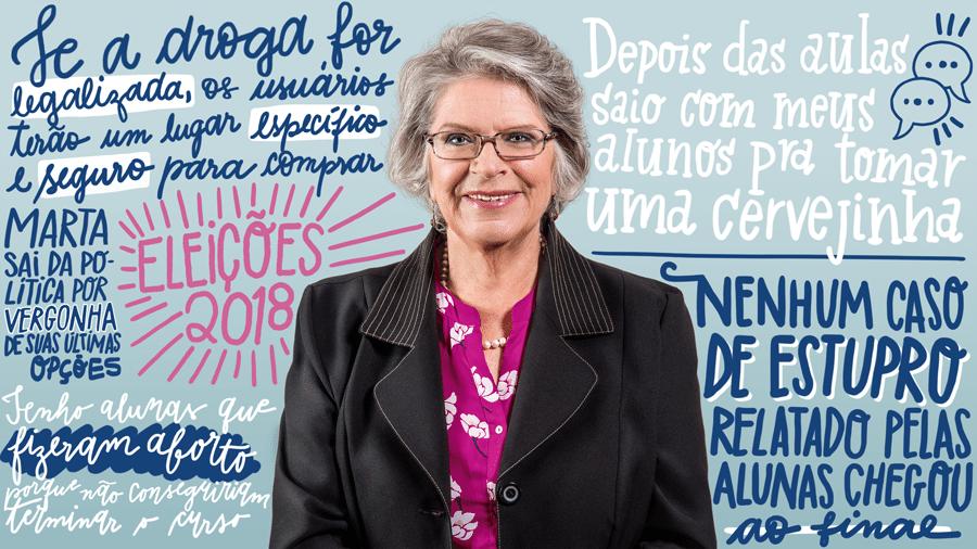 Professora Lisete é a única candidata ao governo de São Paulo - Divulgação/Arte UOL