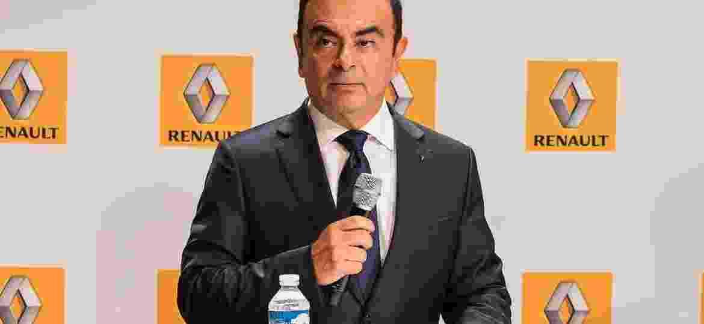 Carlos Ghosn em foto de arquivo durante lançamento da Renault, em 2007 - Divulgação