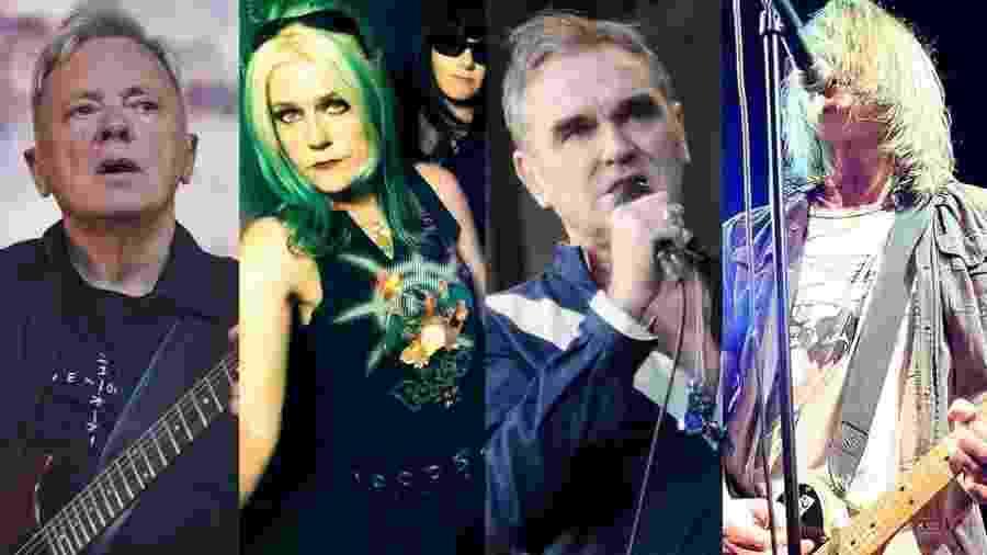 New Order, L7, Soul Asylum e Morrissey; todos tem shows marcados para o Brasil - Getty Images/Montagem