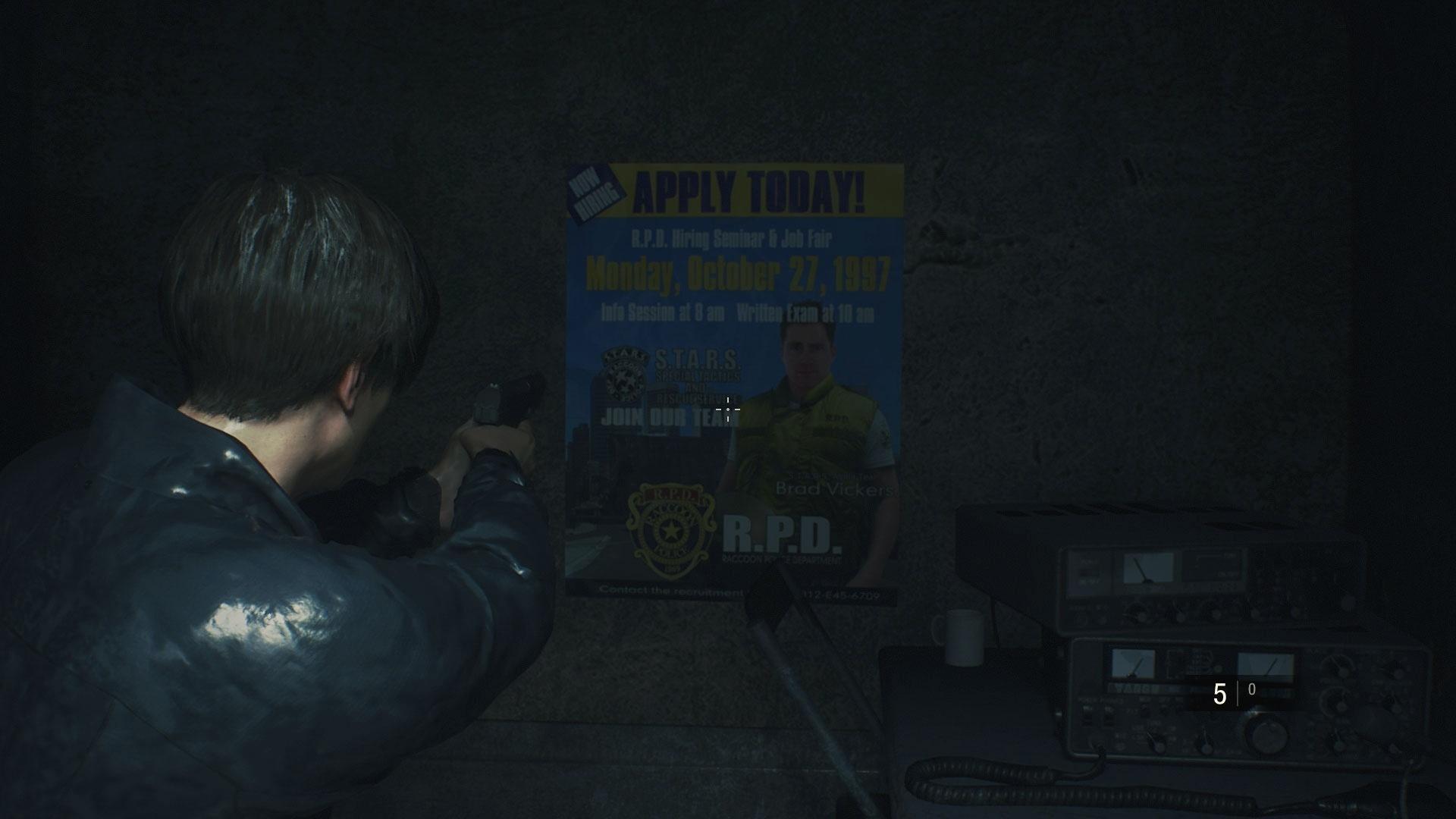 """- brad vickers 1549462030200 v2 1920x1 - 10 'easter eggs' de """"Resident Evil 2"""" que você talvez não tenha percebido"""