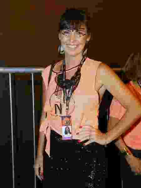 Glenda Kozlowski chega ao camarote N1 na Sapucai no Rio de Janeiro - Jose Humberto/AgNews