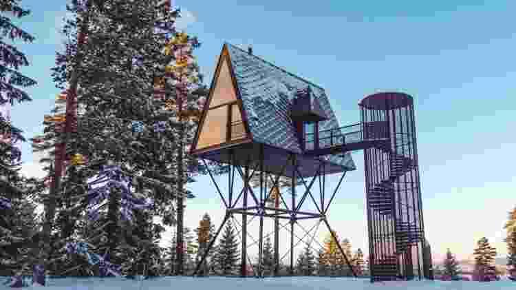 PAN Treetop Cabins, na Noruega - Divulgação