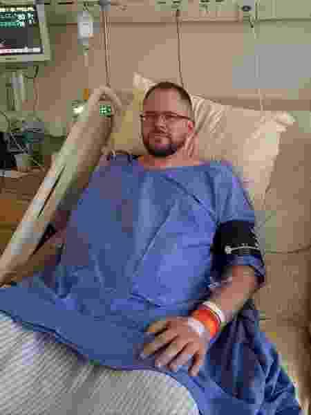 Lucas Bessel, infarto, hospital - Arquivo pessoal - Arquivo pessoal