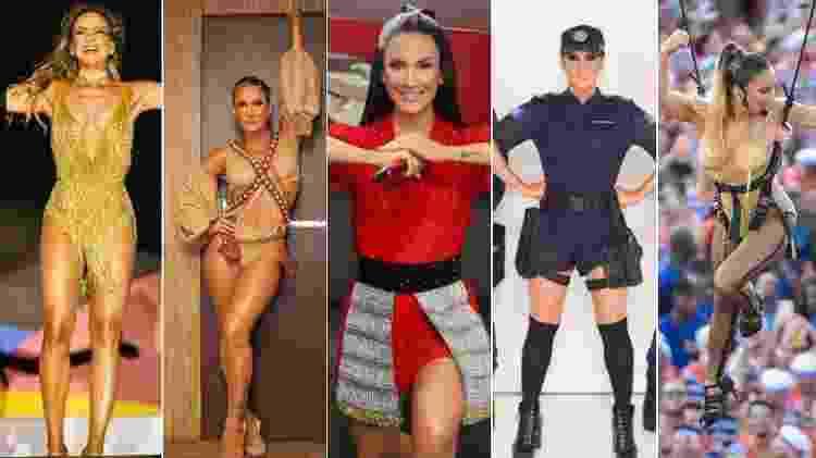 Claudia Leitte e seus figurinos de Carnaval - Reprodução/Instagram - Reprodução/Instagram