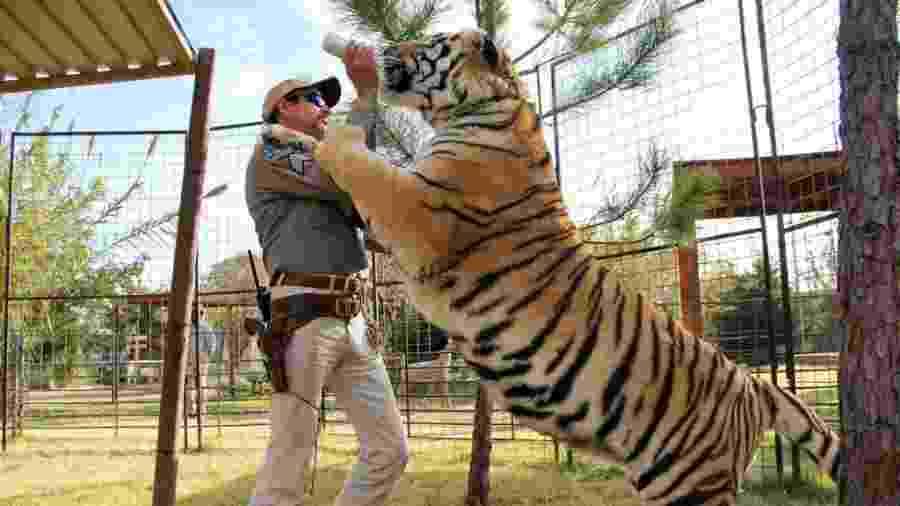 """Cena de """"Tiger King"""" - Divulgação/Netflix"""