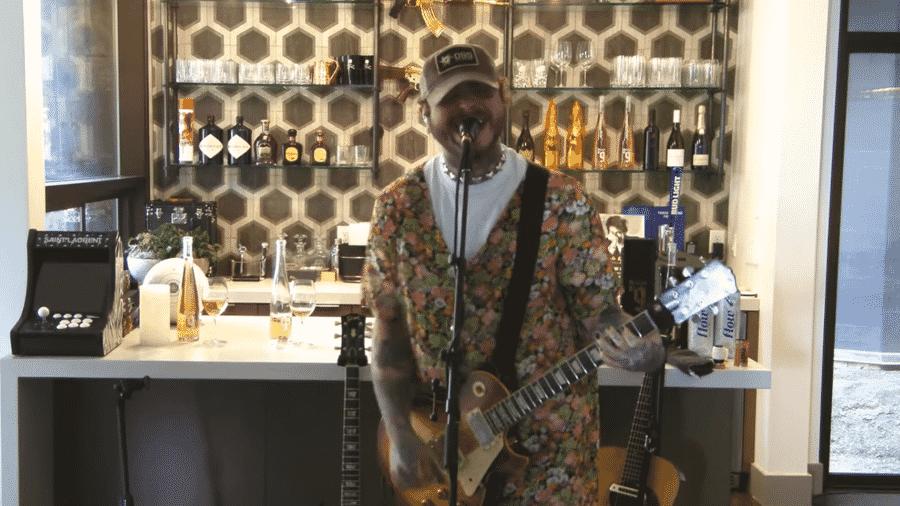 Post Malone em tributo ao Nirvana - Reprodução/YouTube