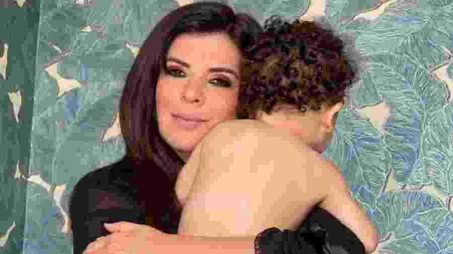 Mara Maravilha adotou o filho Benjamin em março deste ano - Reprodução/Instagram