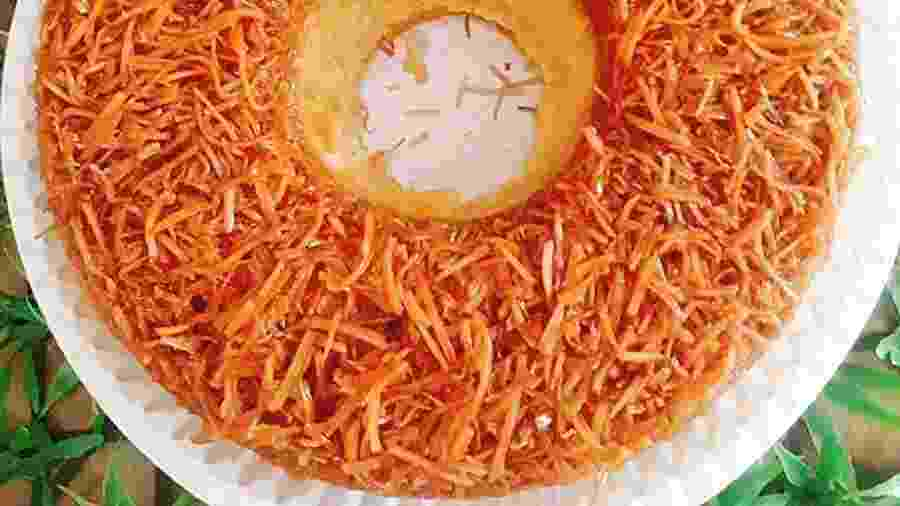 O coco, base de muitos pratos dos povos africanos no continente americano, brilha neste bolo de cocada queimada - Arquivo pessoal