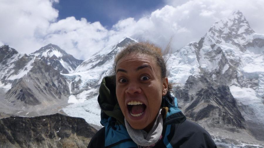 Aretha Duarte no Nepal - Divulgação