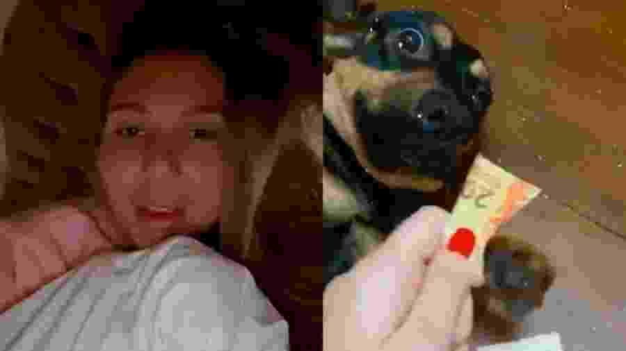 Carol Portaluppi se desespera com sua cachorra Mel - Reprodução/Instagram