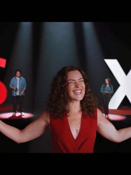 Santander lançou uma campanha publicitária para o SX - o Pix do banco - com a atriz Ana Paula Arósio - Reprodução/Globo