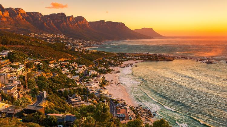 Praia de Clifton, na Cidade do Cabo, África do Sul - Getty Images/iStockphoto - Getty Images/iStockphoto