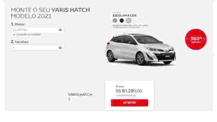 Toyota Yaris S - Reprodução - Reprodução