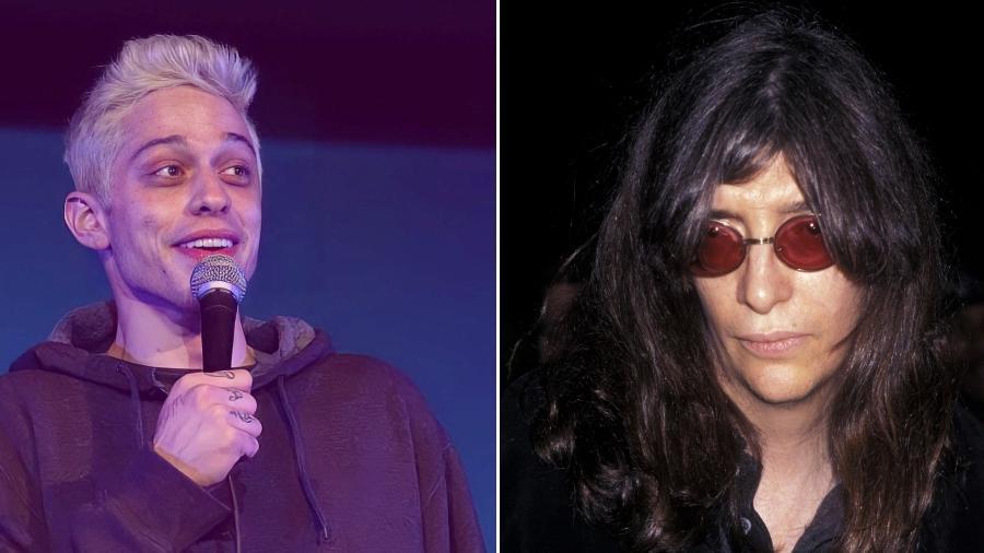 Pete Davidson (à esq.) vai interpretar Joey Ramone (à dir.) - Fotos Instagram e Getty Images/Montagem UOL