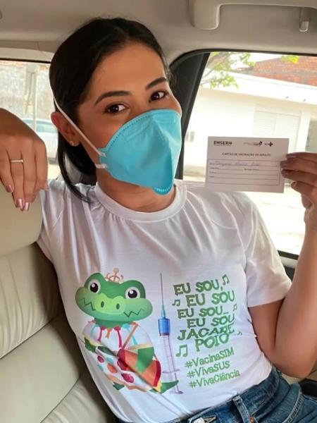 Thaynara OG foi vacinada contra a covid-19 - Reprodução/Instagram @thaynaraog