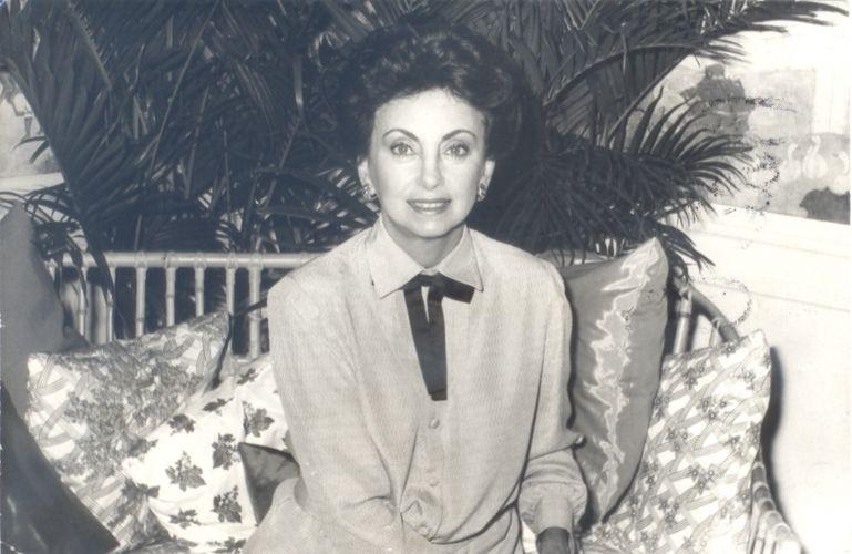"""A atriz Beatriz Segall em """"Vale Tudo"""" (1988), novela na qual ela interpretou Odete Roitman, considerada uma das maiores vilãs da televisão brasileira"""