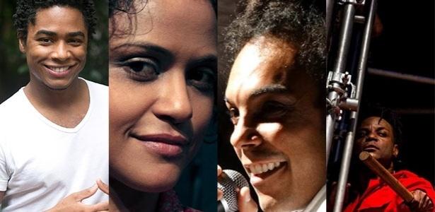 Os atores Sidney Santiago, Naloana Lima, Jé Oliveira e Tony Reis - Montagem/UOL