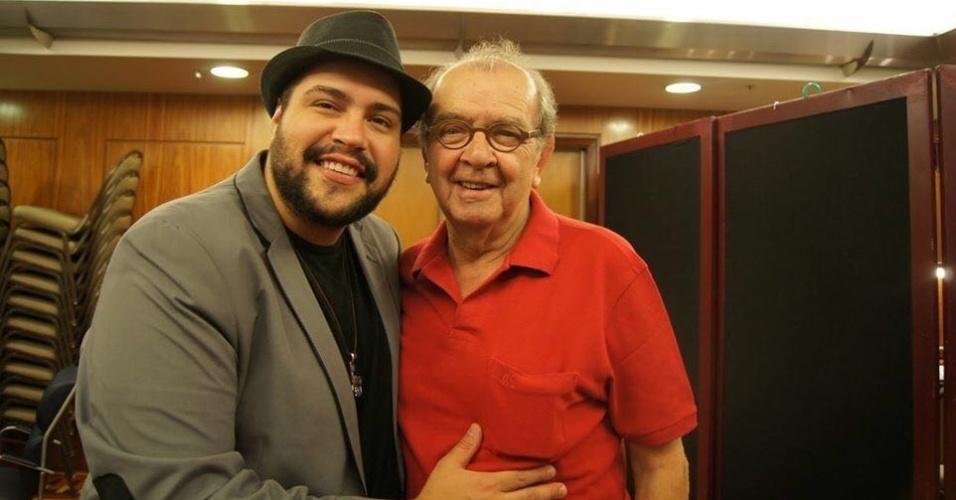 27.abr.2016 - Tiago Abravanel publica foto ao lado de Umberto Magnani em homenagem ao ator