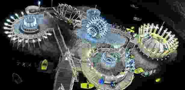 A mina abriga um lago com barquinhos e construções de formato exótico - Gabriel Tocu/Creative Commons