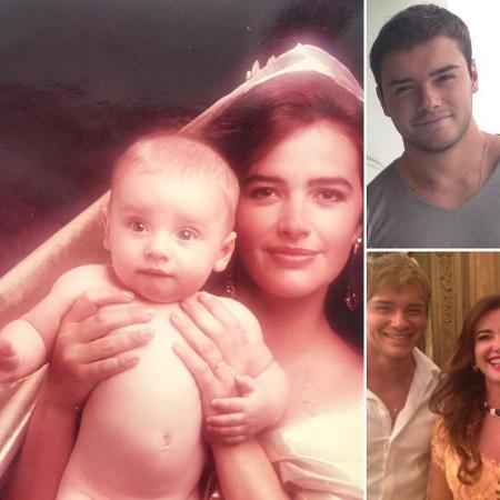 Luma de Oliveira em fotos com o filho Thor Batista - Reprodução/Instagram