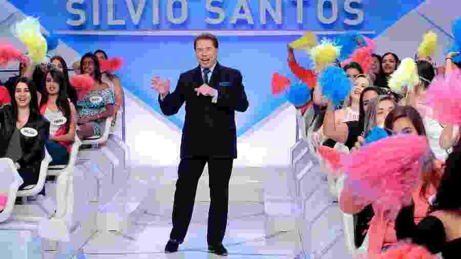 Silvio Santos interage com a plateia em seu programa no SBT - Lourival Ribeiro/SBT