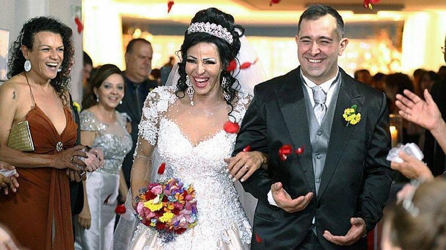 O casamento de Rachel e André foi organizado por alunos do Senac - Reprodução/Facebook