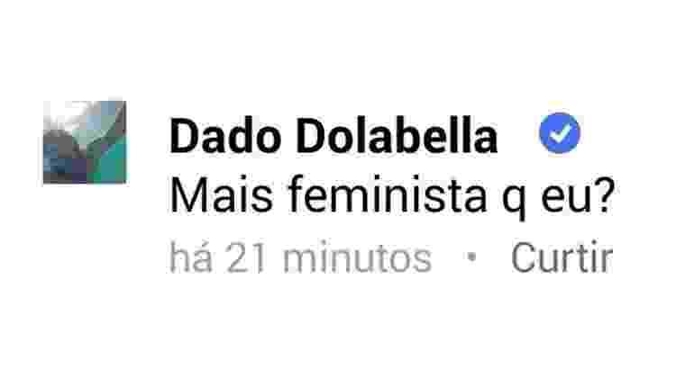 Em 2015, o ator Dado Dolabella causou barulho na internet quando fez a pergunta acima  - Reprodução Twitter