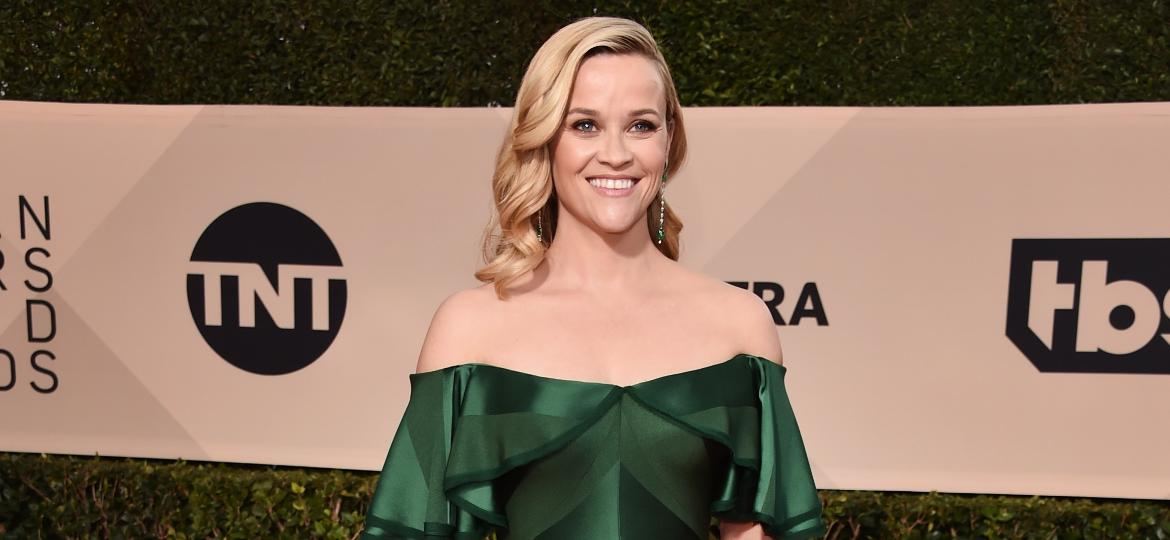 A atriz Reese Witherspoon no tapete vermelho do SAG Awards 2018 - Getty Images