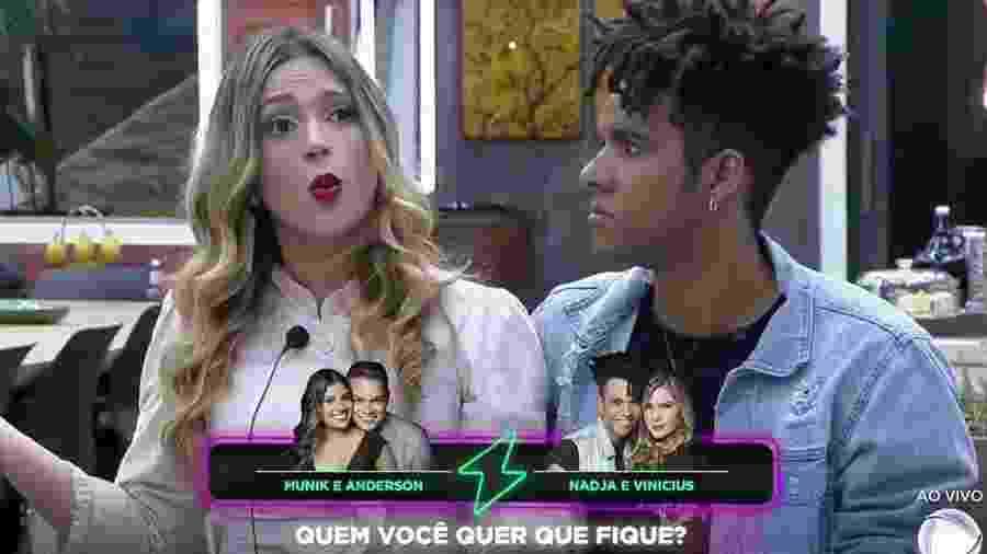 """Nadja Pessoa e Vinicius D""""Black no """"Power Couple Brasil"""" - Reprodução/Record"""