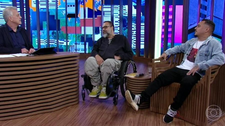"""Marcelo D2 e Marcelo Yuka no """"Conversa com Bial"""" - Reprodução/Globoplay"""