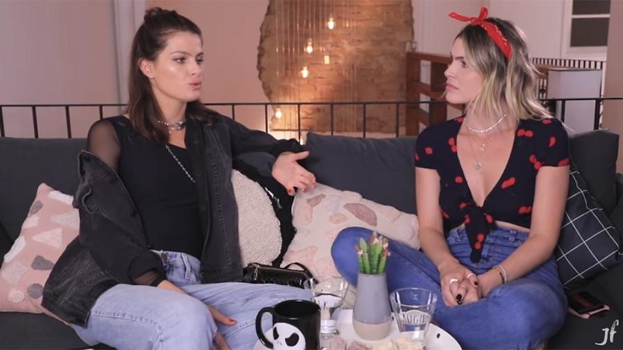 Isabeli Fontana e Júlia Faria - Reprodução/YouTube