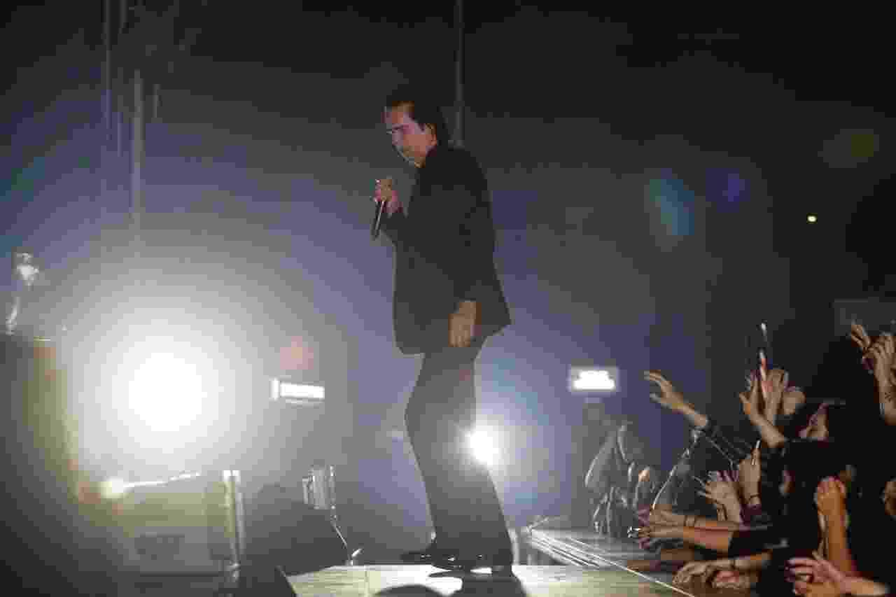 O cantor australiano Nick Cave faz show em São Paulo, no Espaço das Américas, com seu grupo The Bad Seeds - Lucas Lima/UOL