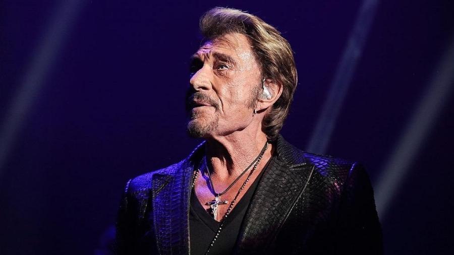 """Johnny Hallyday, conhecidoc como """"Elvis Presley"""" francês - Getty Images"""