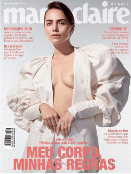 """Leticia Colin na capa da """"Marie Claire"""" - Reprodução/Instagram"""