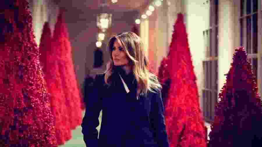 Melania Trump mostra a decoração de Natal da Casa Branca - Reprodução/Twitter/Melania Trump