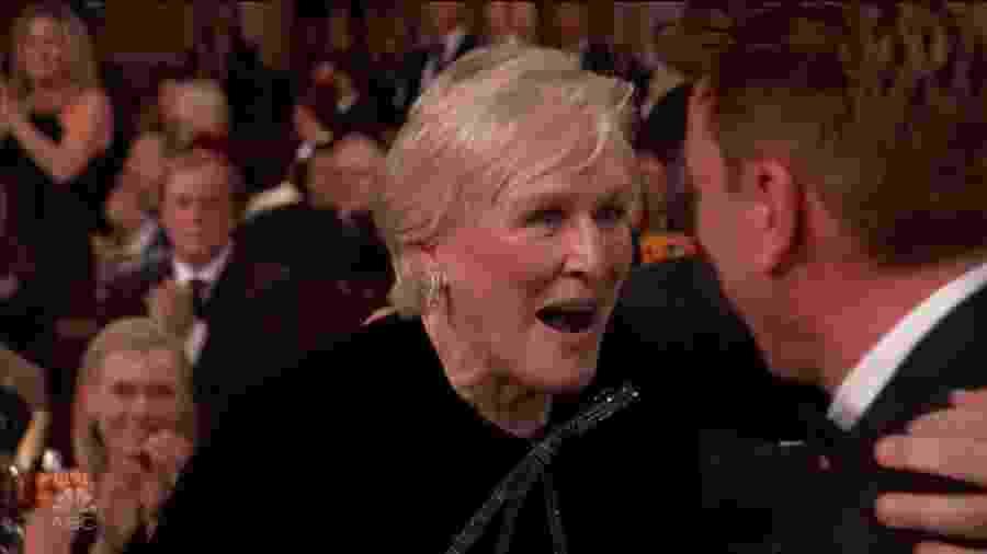 Glenn Close surpresa por vencer o Globo de Ouro - Reprodução/Twitter