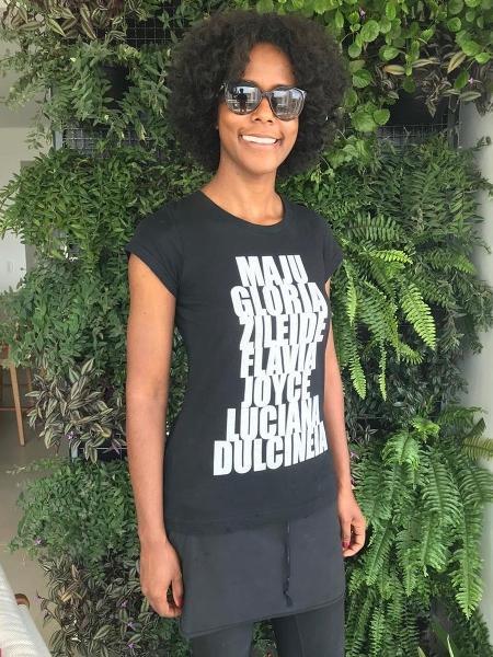 Maju homenageia colegas negras em camiseta - Reprodução/Instagram