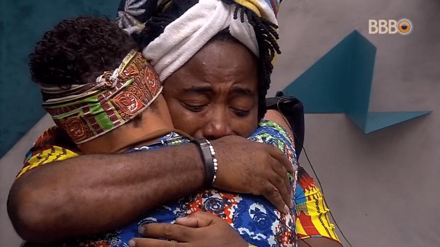 Rodrigo e Danrley choram antes de paredão - Reprodução/GloboPlay