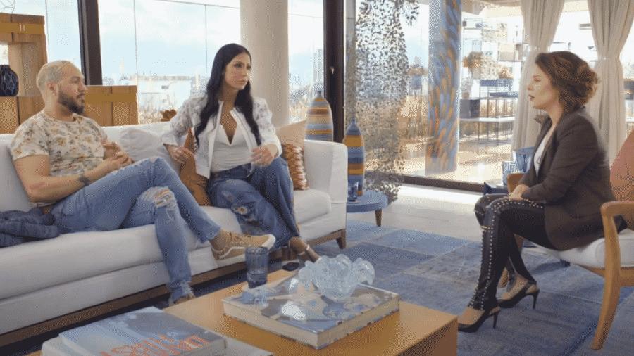 Belo e Gracyanne Barbosa são entrevistados por Fernanda Souza - Reprodução/Globoplay