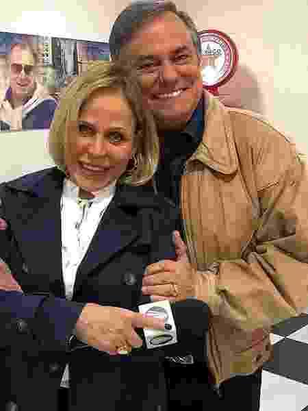 Claudete e Ronnie na TV Aparecida - Instagram